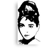 Audrey Hepburn / Holly Golightly Canvas Print