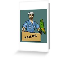The Quintessential Sailor and his Polly Greeting Card