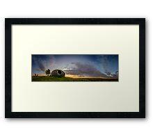 Sunrise in Lancashire Framed Print