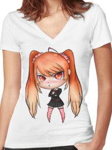 Yandere Simulator - Chibi Osana Najimi (Uniform 5) Women's Fitted V-Neck T-Shirt