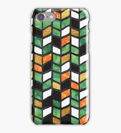 Jade Herringbone iPhone Case/Skin