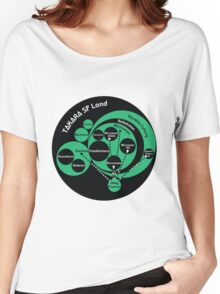 A Phylogeny of Robots: Green-Black Women's Relaxed Fit T-Shirt