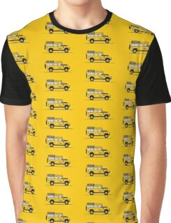 A Graphical Interpretation of the Defender 110 Station Wagon Camel Trophy Graphic T-Shirt