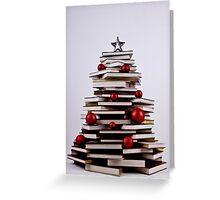 "XMAS BOOK TREE ~ OMG Sold  ""198 "" of these YAY !!! Greeting Card"