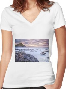 The Light That Brought The Darkness Women's Fitted V-Neck T-Shirt