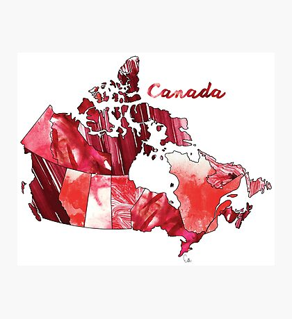 Watercolor Countries - Canada Photographic Print