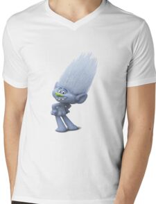 a gray glittery Troll who is always naked Mens V-Neck T-Shirt