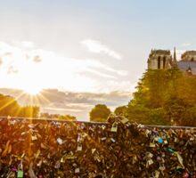 Sunrise at Notre Dame de Paris Sticker