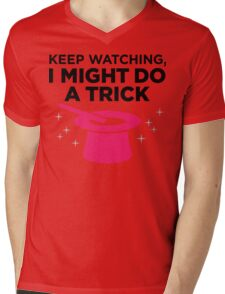 Look carefully. Maybe I show a trick! Mens V-Neck T-Shirt