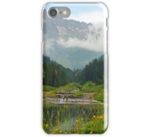 Small lake in the Alps iPhone Case/Skin