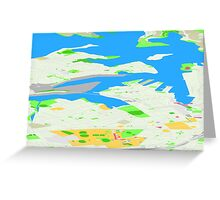 Sydney Inner West Map Perspective View Greeting Card