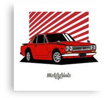 Nissan Skyline 2000 GT-R Coupe (red) Canvas Print