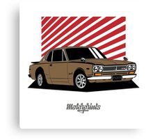 Nissan Skyline 2000 GT-R Coupe (brown) Canvas Print