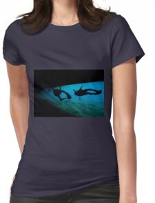 Israeli Navy divers checking  the Naval harbour for mines and enemy activity Womens Fitted T-Shirt