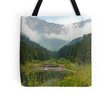 Small lake in the Alps Tote Bag