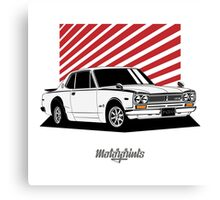 Nissan Skyline 2000 GT-R Coupe (white) Canvas Print