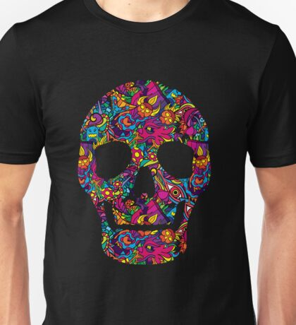 Day of the Dead - Psychedelic Skull 01 Unisex T-Shirt