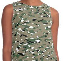 Camouflage: Woodland V Contrast Tank