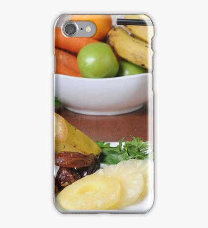 Organic Health Food meal. Fruit, vegetables and a shake drink  iPhone Case/Skin