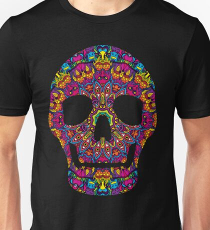 Day of the Dead - Psychedelic Skull 02 Unisex T-Shirt