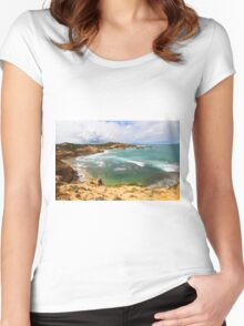 Diamond Bay, Sorrento, Mornington Peninsula Women's Fitted Scoop T-Shirt