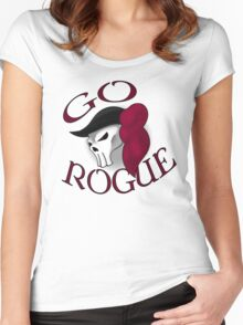 GO ROGUE SKULL Women's Fitted Scoop T-Shirt