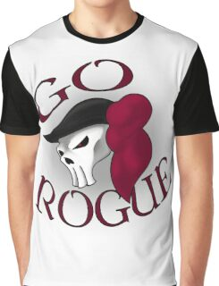 GO ROGUE SKULL Graphic T-Shirt