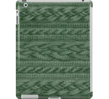 Pine Green Cable Knit iPad Case/Skin