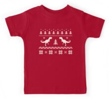 Christmas Ugly Sweater pattern dinosaur  Kids Tee