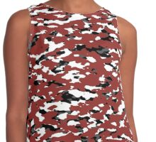Camouflage: Red II Contrast Tank