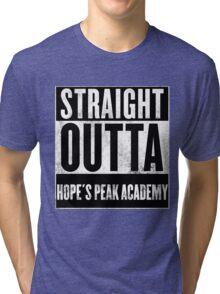 straight outta hope's peak academy Tri-blend T-Shirt
