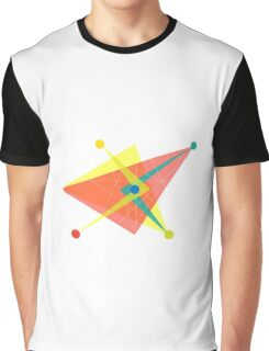 Double Arrow Slanted Square Graphic T-Shirt