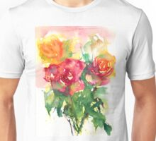 Watercolour painting of roses Day 410. Unisex T-Shirt