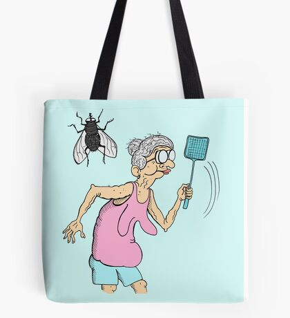 Granny vs Fly Tote Bag