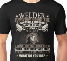 Welding Soft Screen Printed Tshirt Unisex T-Shirt