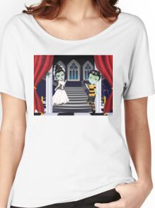 Fashion Zombie Couple near Stairs 2 Women's Relaxed Fit T-Shirt