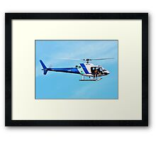 HELICOPTER -PORT ADELAIDE  Framed Print