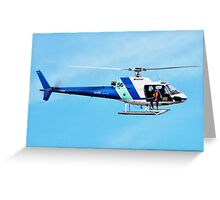 HELICOPTER -PORT ADELAIDE  Greeting Card