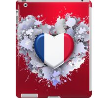Love to France over red iPad Case/Skin