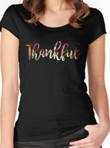 Thankful Women's Fitted Scoop T-Shirt