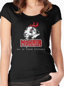 Heavy Metal Knitting - MoHair - All these stitches Women's Fitted Scoop T-Shirt