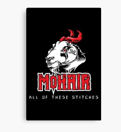 Heavy Metal Knitting - MoHair - All these stitches Canvas Print