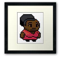 Community Shirley 8 bit Framed Print