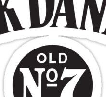jack daniels old black Sticker