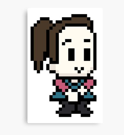 Community Annie 8 bit Canvas Print