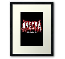 Heavy Metal Knitting - Angora - Halo Framed Print