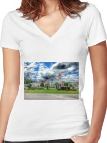 A church in Socastee South Carolina Women's Fitted V-Neck T-Shirt