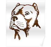 American Pit Bull Terrier Dog Breed puppy pet Poster