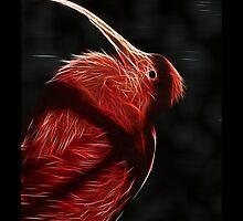 Red neon Bird by artonall