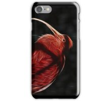 Red neon Bird iPhone Case/Skin